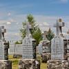 Polish section of the cemetery, Fairmount Cemetery, Spokane, Washington