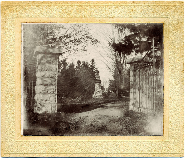 West Genoa Cemetery front gate. (Photo ID: 28133)