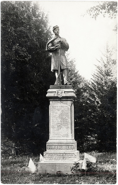 Soldier monument at West Genoa Cemetery. (Photo ID: 34490)