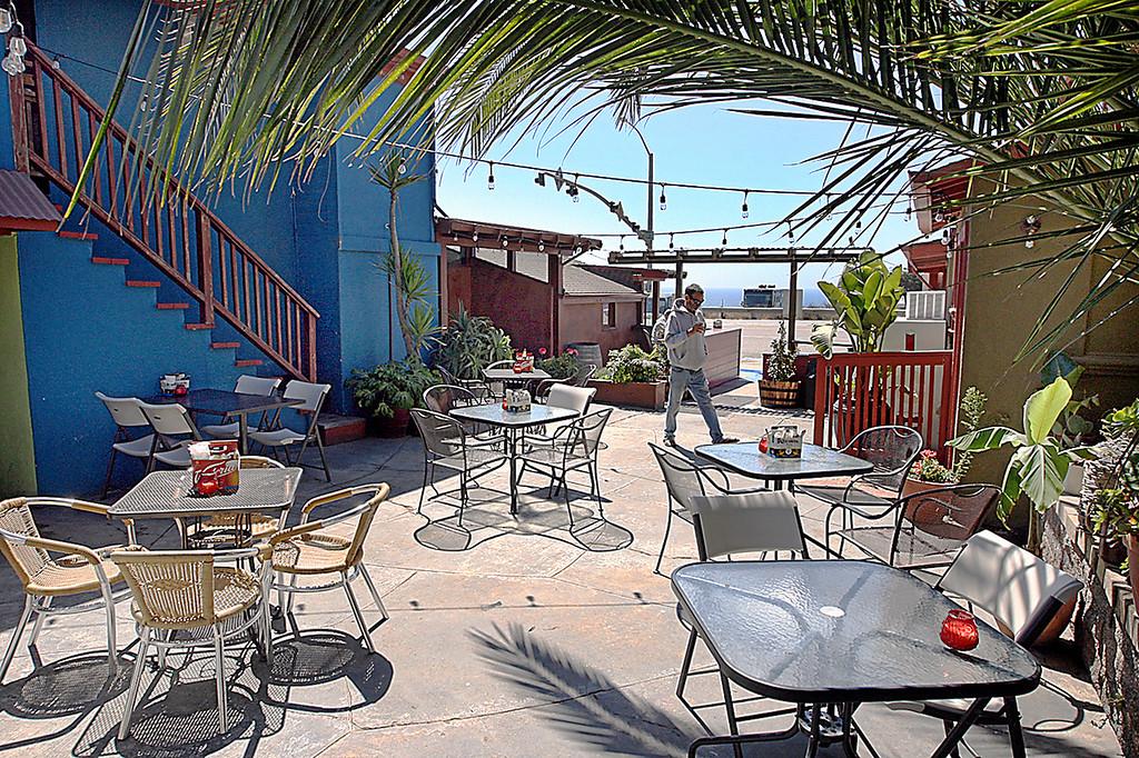 . The ocean view patio at Cemitas in Davenport. (Dan Coyro -- Santa Cruz Sentinel)