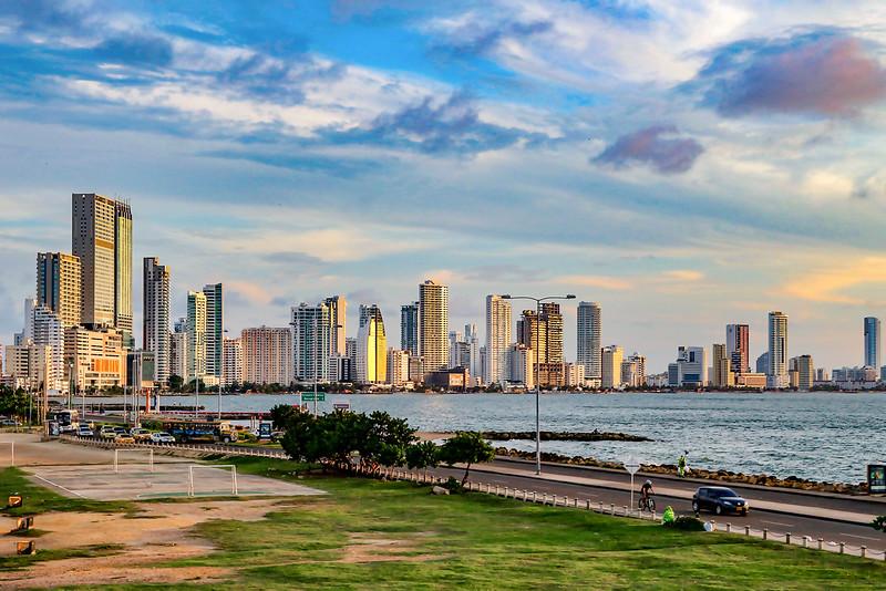 Vista Geral de Cartagena
