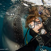 Whale shark selfie - Papua by Tracey Jennings
