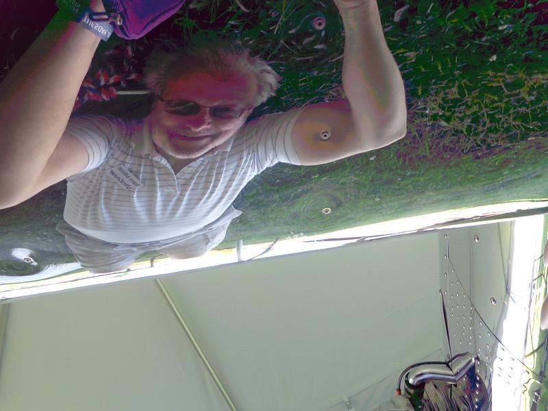 Steve Cole: bottom skin ... grass and me!