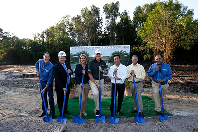 The Els Center of Excellence - Groundbreaking Ceremony. 2014-03-10