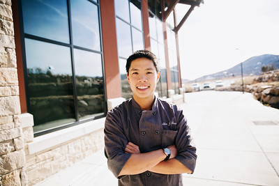 Chef Allen Tran at the Center of Excellence Photo: Sarah Brunson/USSA