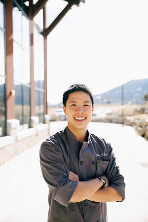 Chef Allen Tran at the Center Of Excellence
