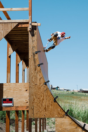 Skateboarding ramp at COE