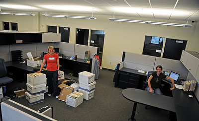 Freestyle's Cheryl Bilisoly and snowboarding's Abbi Nyberg move into new offices in the USSA's Center of Excellence