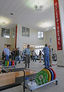 USSA staff get a tour of the new Center of Excellence national training and education center.