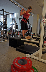 The U.S. Ski Team's Stacey Cook goes through testing with USSA Sport Science at the new Center of Excellence in Park City, Utah.