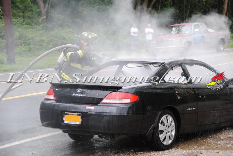 Center Moriches Car Fire 6-14-12-8
