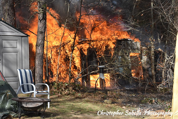 CENTEREACH SHED FIRE  2018