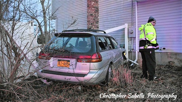 Centereach car into house  3/23/19