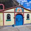 Small church in another Mayan village on the shores of Lake Atitlan. Guatemala