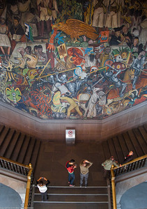 Murals by Diego Rivero in National Palace, Mexico City 9936