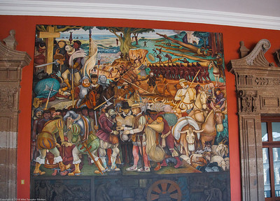 Murals by Diego Rivero in National Palace, Mexico City 9940