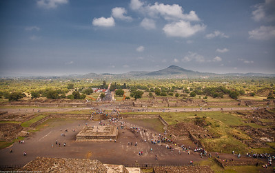View from the Pyramid of the Sun, Teotihuacan, Mexico-28