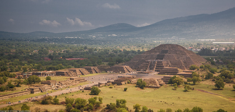 View from the Pyramid of the Sun, Teotihuacan, Mexico-22
