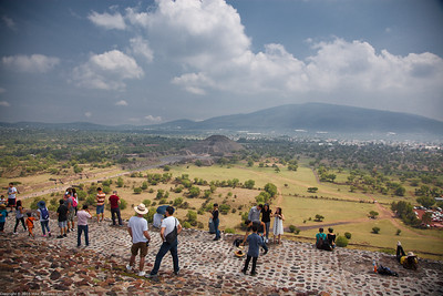 View from the Pyramid of the Sun, Teotihuacan, Mexico