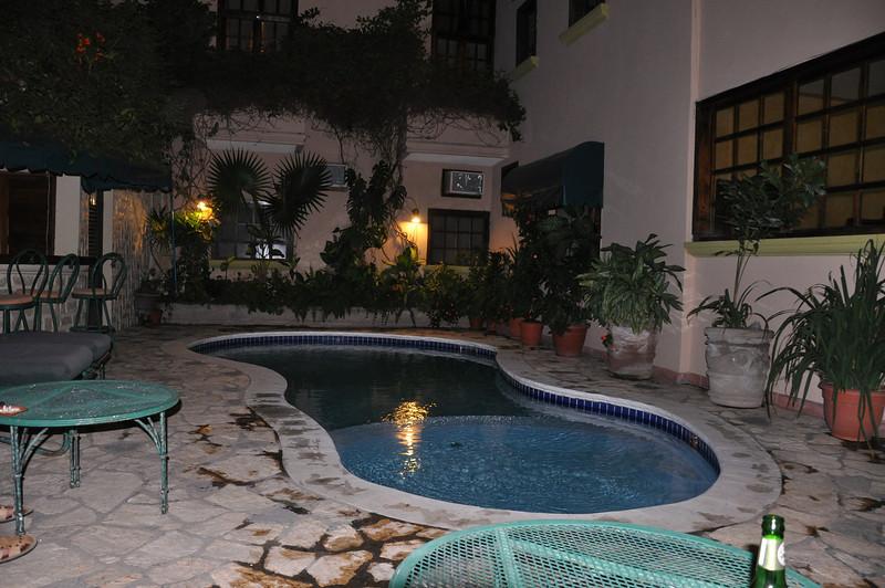 The hotel swimming pool in Copan Ruinas