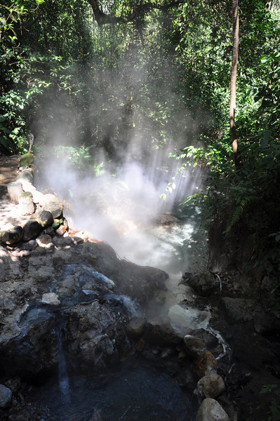 The actual source of the hot water for the Spa