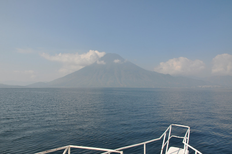 The best view we're going to get of one of Lake Atitlan's three extinct volcanoes