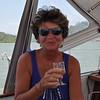 Phyllis Macay enjoys a light refresment