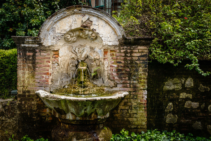 Fountain waiting to get restored