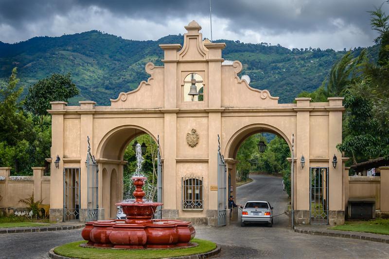 Entrance to Coffee Plantation.