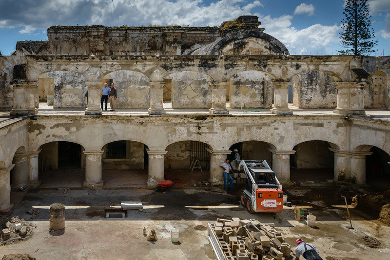 Old Jail being renovated.- Antigua