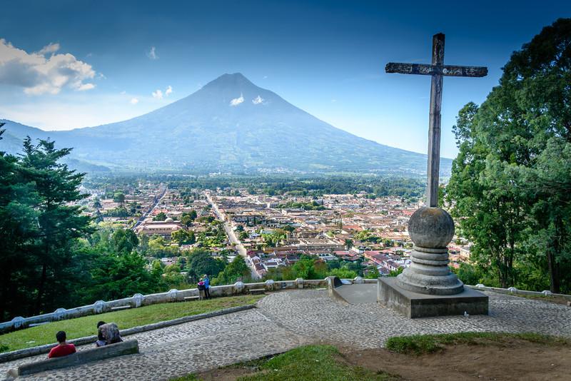 Antigua from Cero DE La Cruz - Guatemala