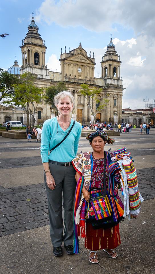 Coby and Mayan Vendor