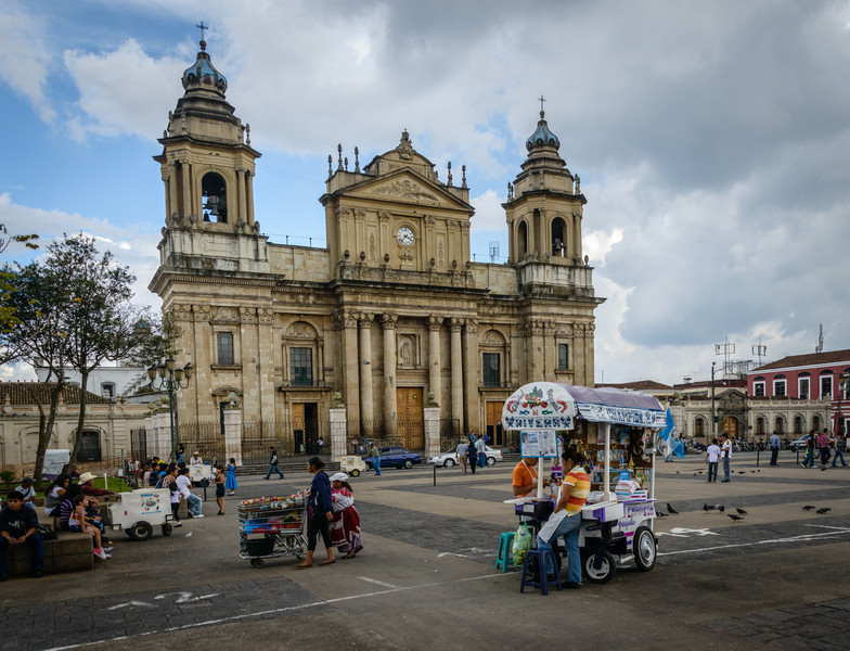 Street Vendors, Plaza Major