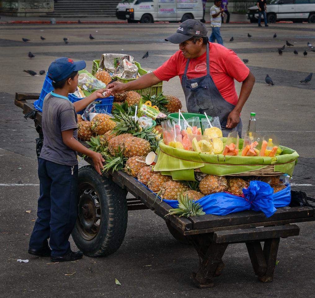 Street Vendors, Plaza Major