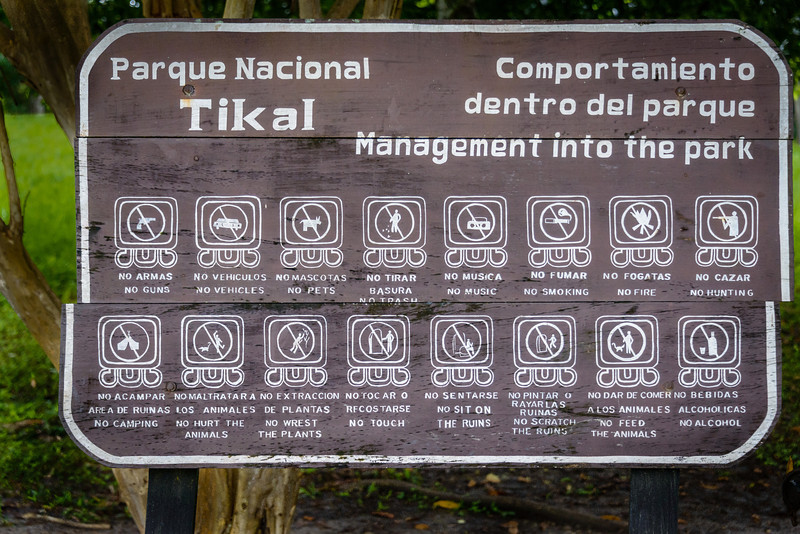 Tikal Reminders for Visitors