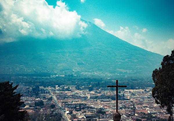Antigua and Pacaya volcano