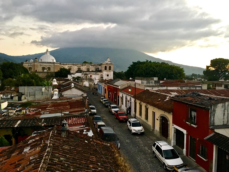 the view from Sky Bar in Antigua, Guatemala