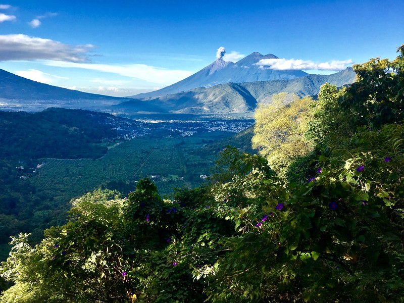 view from Earth Lodge above Antigua, Guatemala