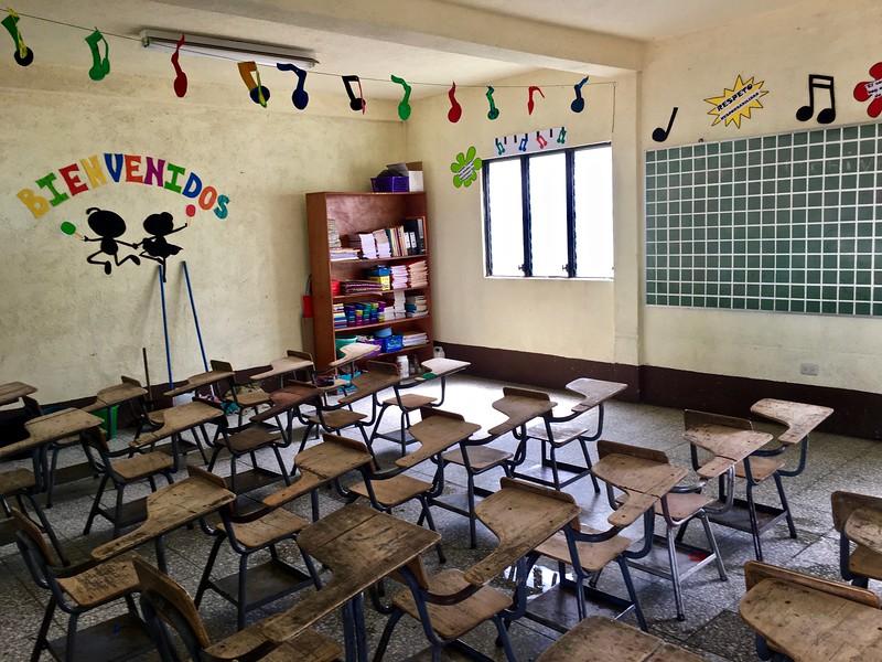 classroom at Niños de Guatemala school