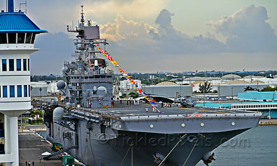 Amphibious Assault Ship USS Iwo Jima (LHD 7)