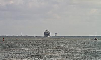 Ships Queue for Gatun Locks