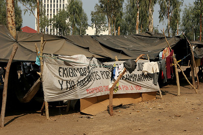 "Managua, Nicaragua. ""Nemagon"" victims camp out in the capital in the hope that their voices will be heard.   Nemagon is a toxic pesticide and known carcinogen that was banned in the US but exported to Nicaragua and other developing countries."