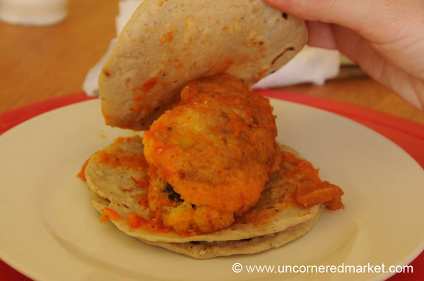 Guatemalan Food, Chile Relleno - Antigua, Guatemala