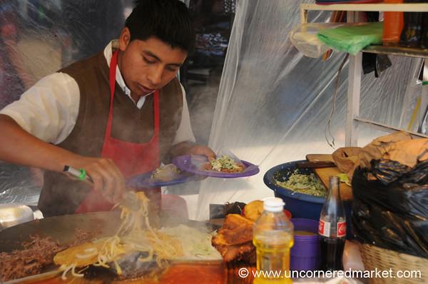 Street Tacos in Xela, Guatemala