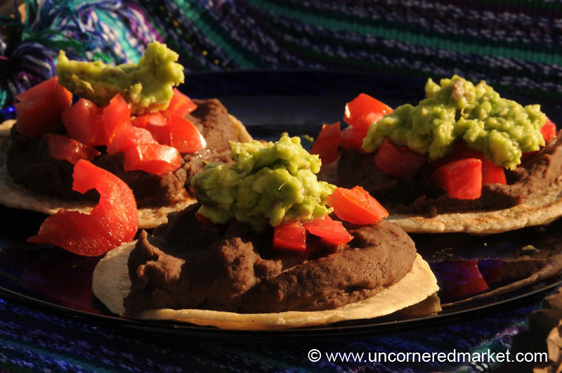 Black Bean Guacamole Tortillas - Antigua, Guatemala