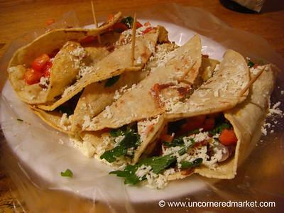 El Salvador Food, Vegetarian Tacos - Alegria, El Salvador