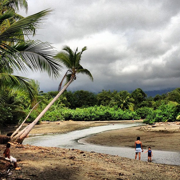 A moment, watching the tide go out at the edge of the jungle. Bahia Ballena, Costa Rica