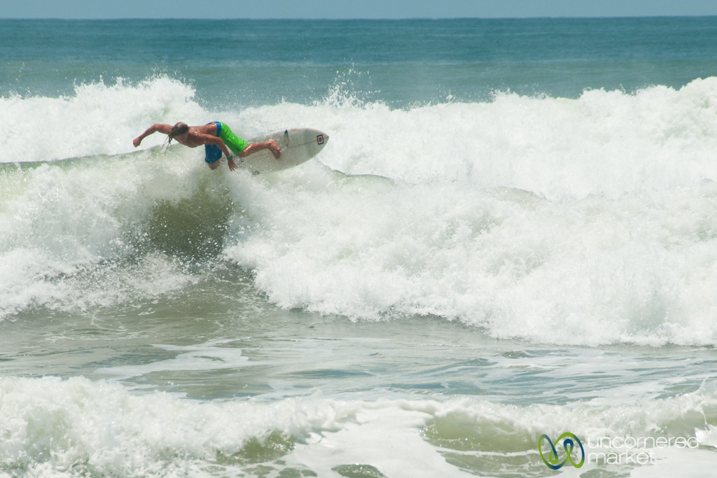 Surfing at Domincal Beach, Costa Rica