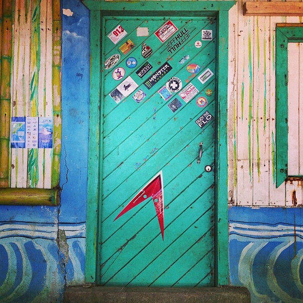Favorite doorway candidate #29. Surf shack, Costa Rican style. Playa Dominical.