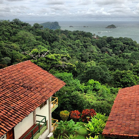 The view from our hacienda. New day, new country: Costa Rica. Just outside Manuel Antonio National Park at the Summit in the Jungle. #gproject